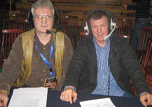 od lewej, autor Sławomir Ciara i medalista olimpijski Krzysztof Kosedowski