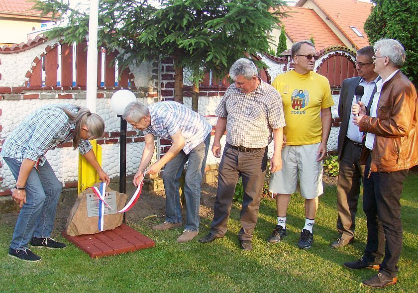XV Galobiesiada w Łysomicach - odsłonięcie pamiątkowej tablicy