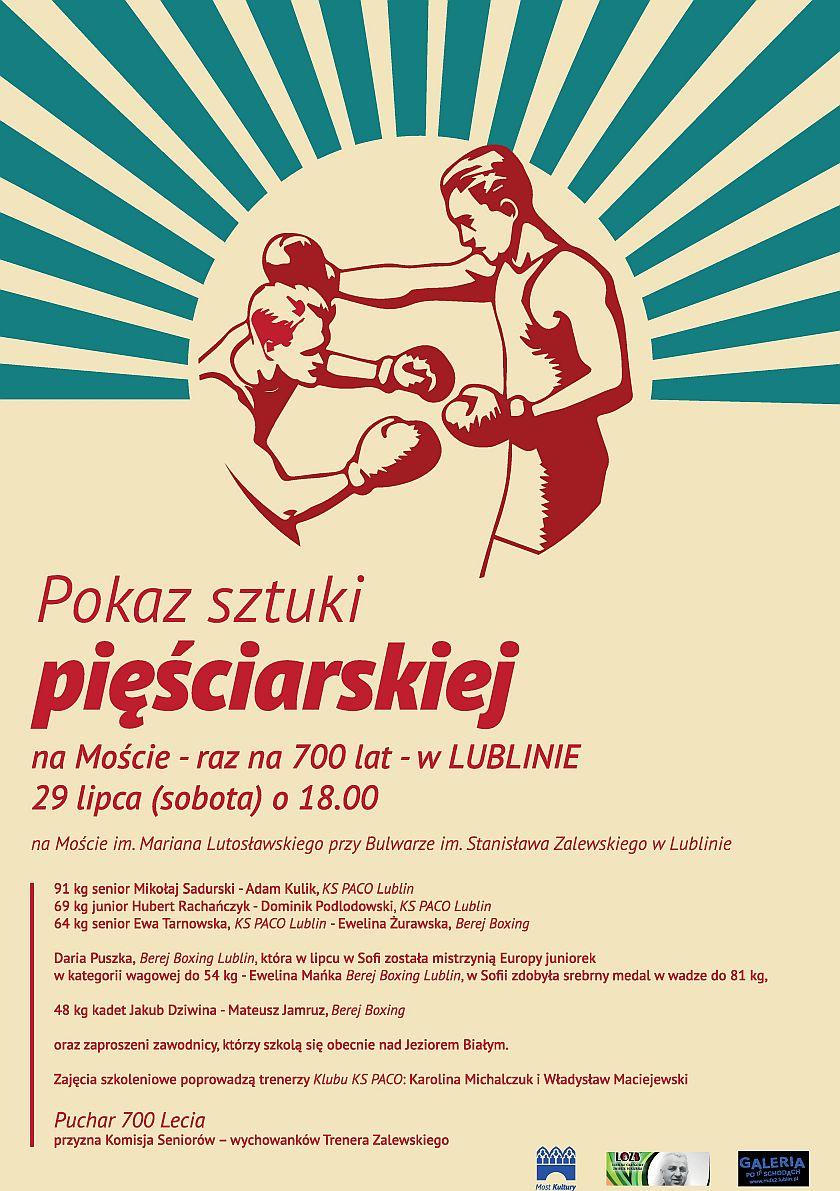 Boks na Moście Kultury z okazji 700-lecia miasta Lublin
