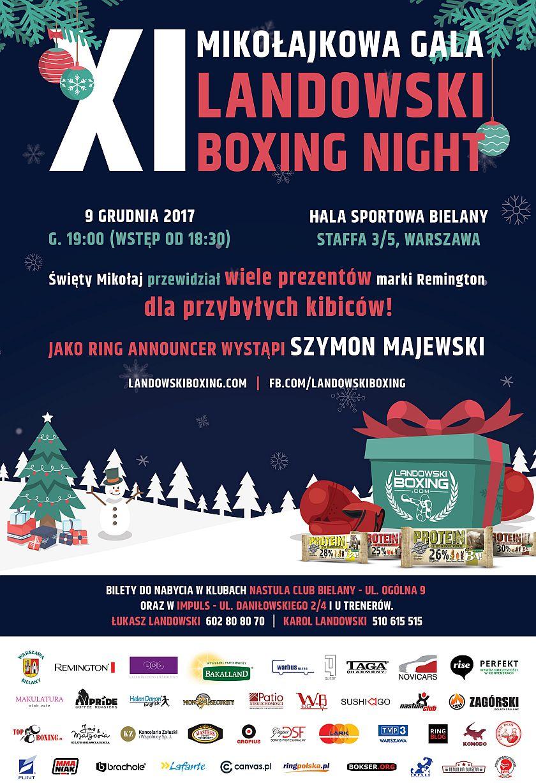 Mikołajkowa gala pięściarska - XI Landowski Boxing Night
