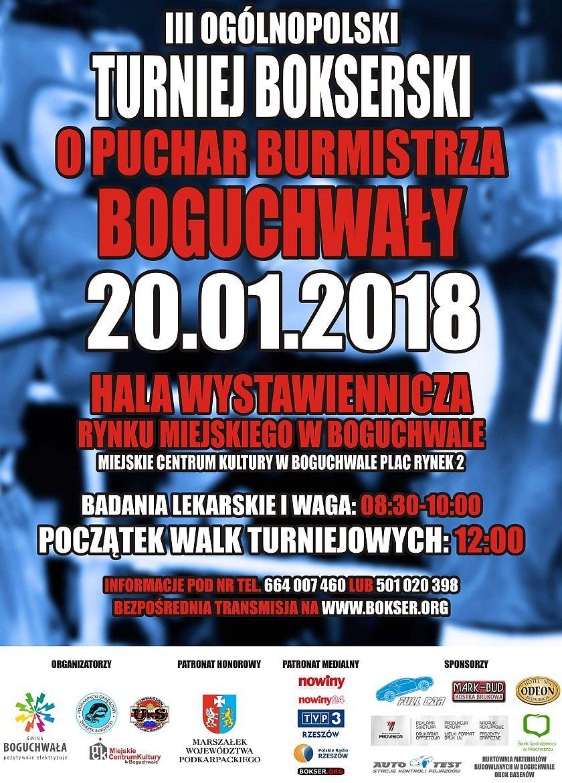 Ogólnopolski Turniej Bokserski o Puchar Burmistrza Boguchwały 2018 Plac Rynek 2