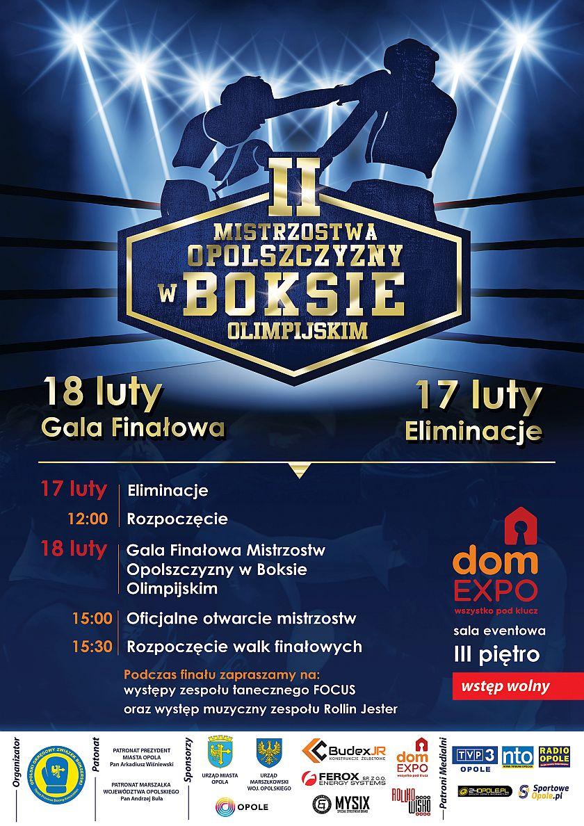 Mistrzostwa Opolszczyzny w Boksie sala eventowa Dom EXPO w Opolu ul.Krzywa 8