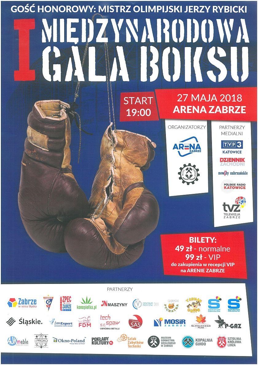 Pierwsza Międzynarodowa Gala Boksu w Zabrzu