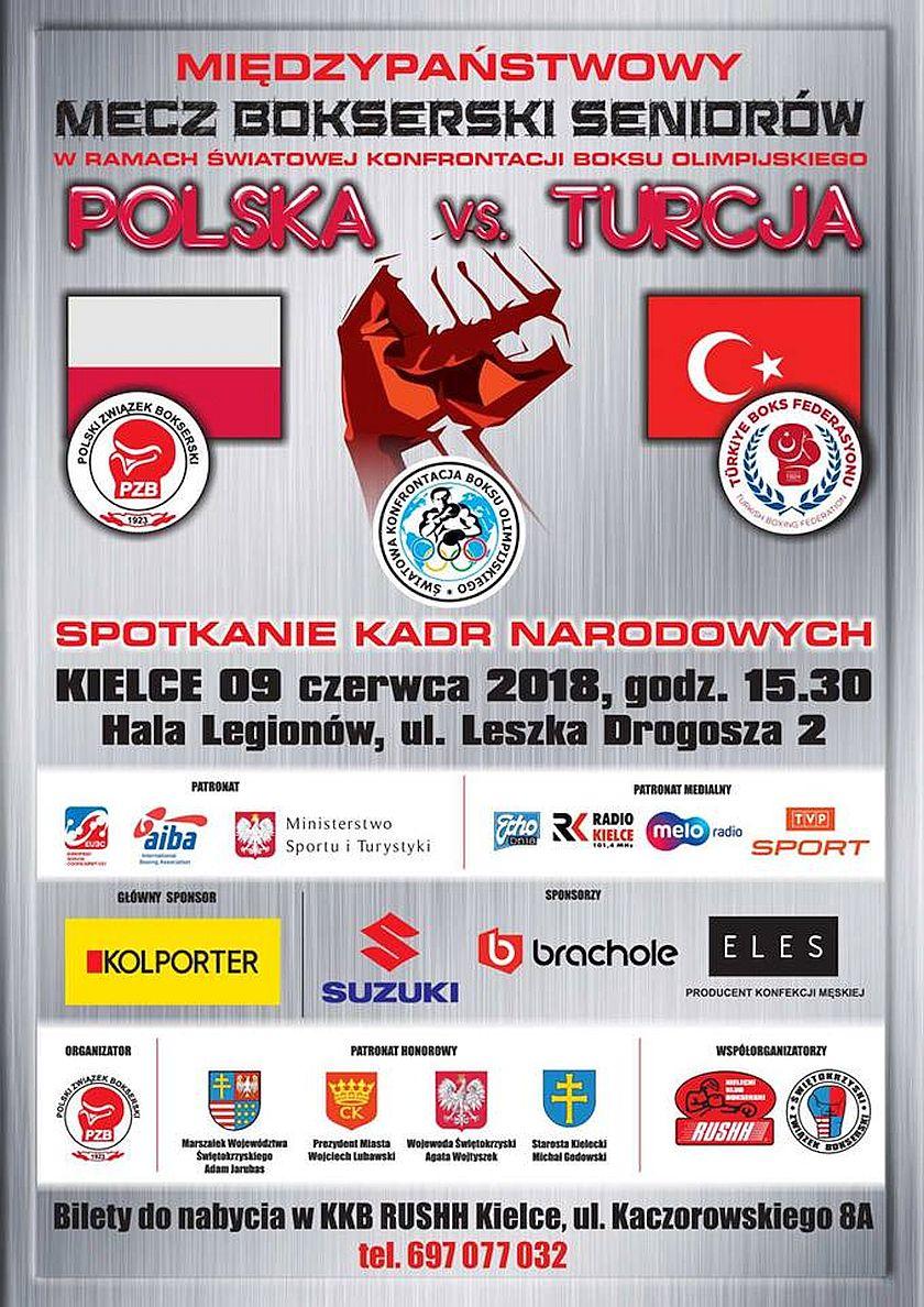 Światowa Konfrontacja Boksu Olimpijskiego: Mecz Polska kontra Turcja - Kielce