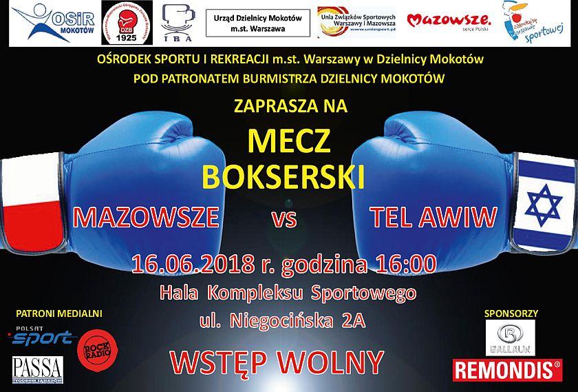 Mecz towarzyski Mazowsze kontra Maccabi Tel Aviv (Izrael) Warszawa hala OSiR Mokotów