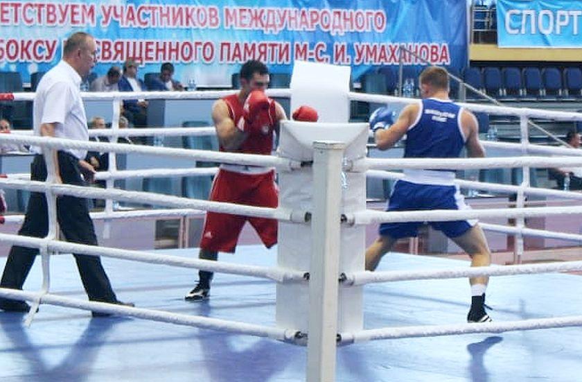 Umakhanova Kaspiysk, Dagestan Mateusz Wodziński na ringu w Rosji