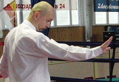Kurs Sędziego Boksu Olimpijskiego - Kazimierz Mietła w ringu
