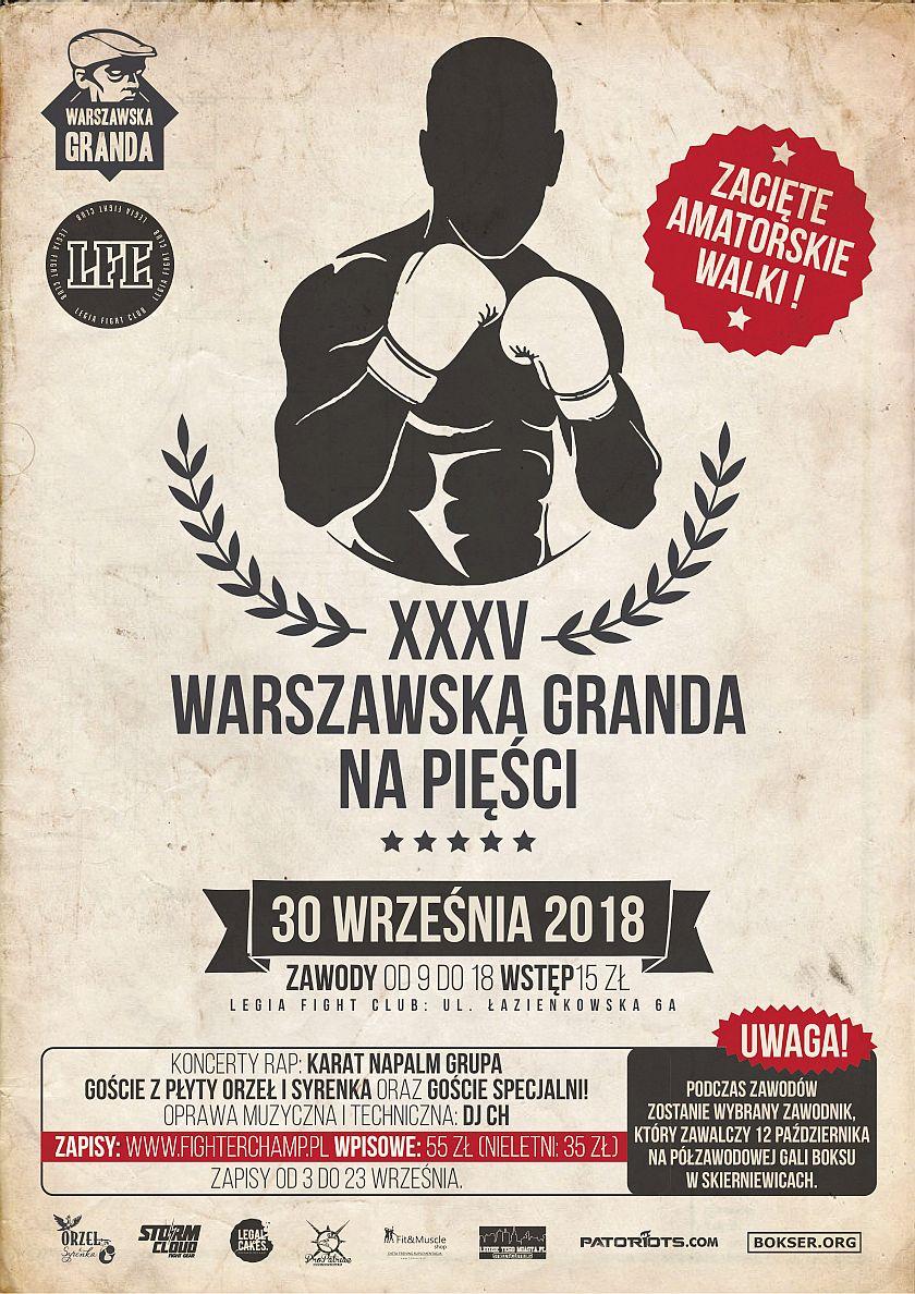 Warszawska Granda na Pięści w Legia Fight Club