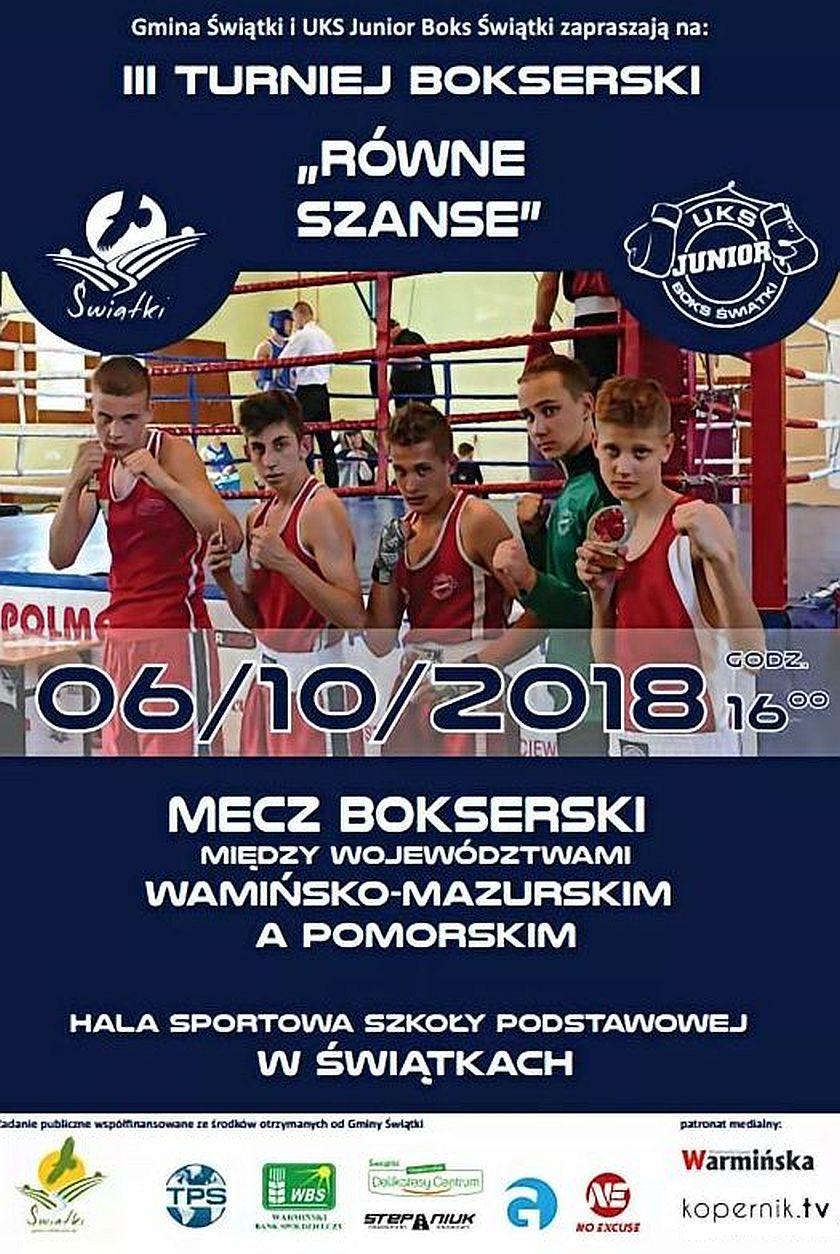 Mecz bokserski drużyn Warmińsko-Mazurskiej z Pomorskimi wojownikami na III Turnieju w Świątkach