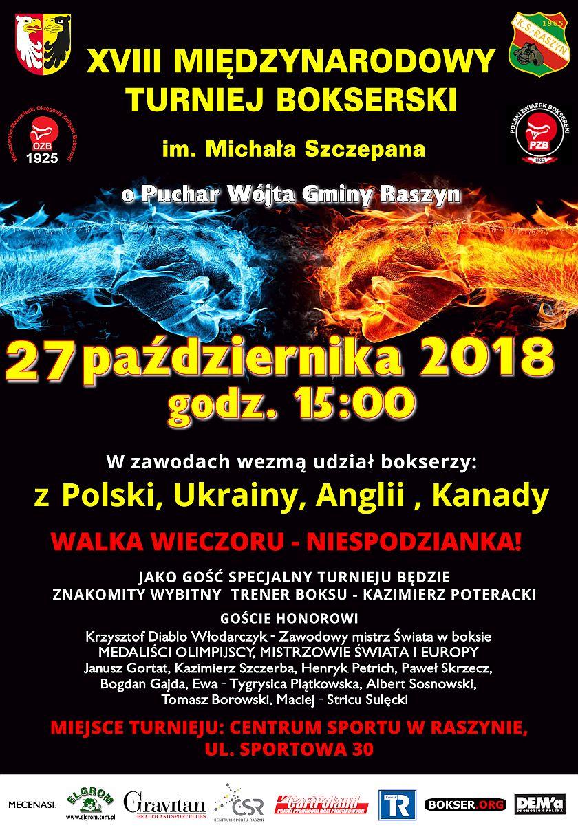 Międzynarodowy Turniej Bokserski na otwarcie Centrum Sportu Raszyn