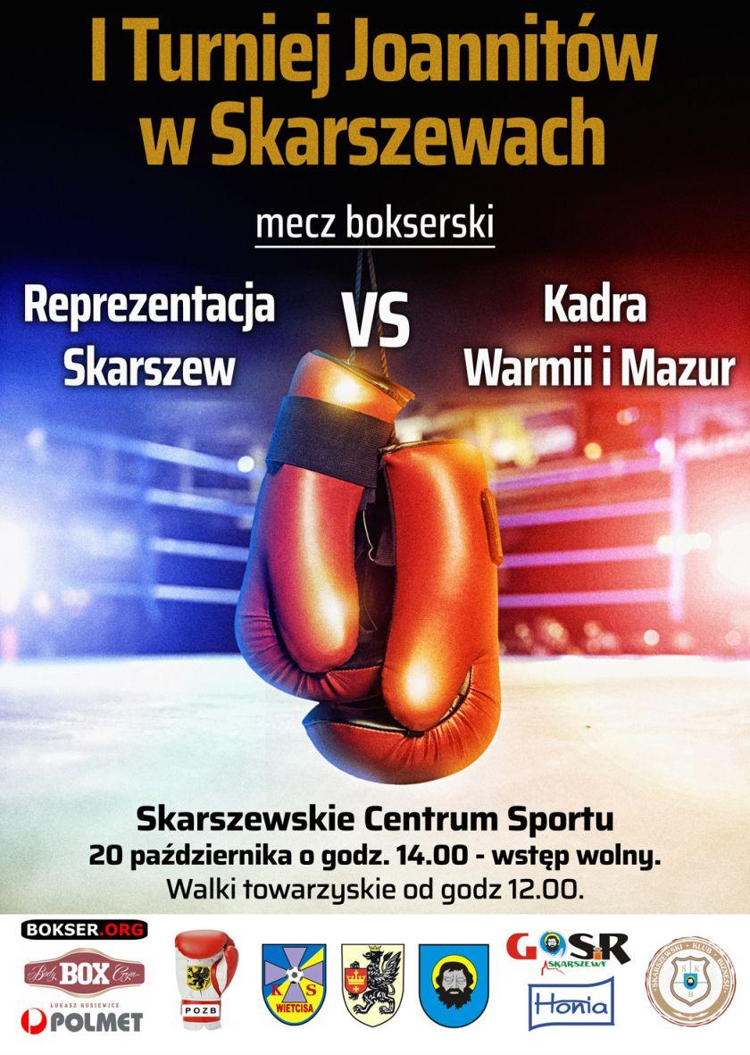 Skarszew kontra Warmia i Mazury - mecz bokserski Turnieju Joanitów