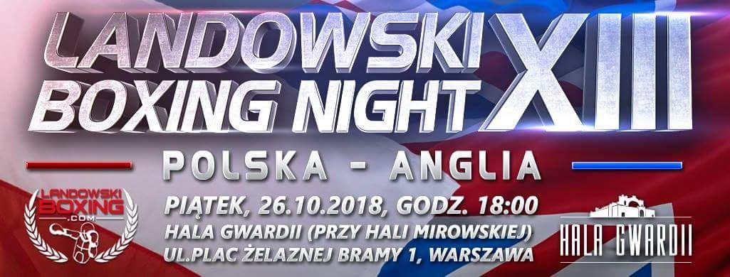 Landowski Boxing Night XIII Hala Gwardii Warszawa