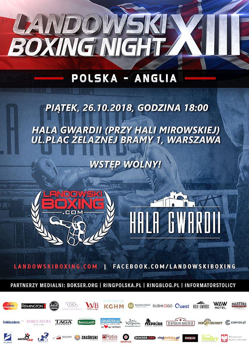 Szymona Majewski zaprasza na Landowski Boxing Night w Hali Gwardii w Warszawie