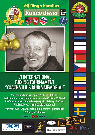 Medale na Turnieju im. Viliusa Buika w Kownie - Litwa
