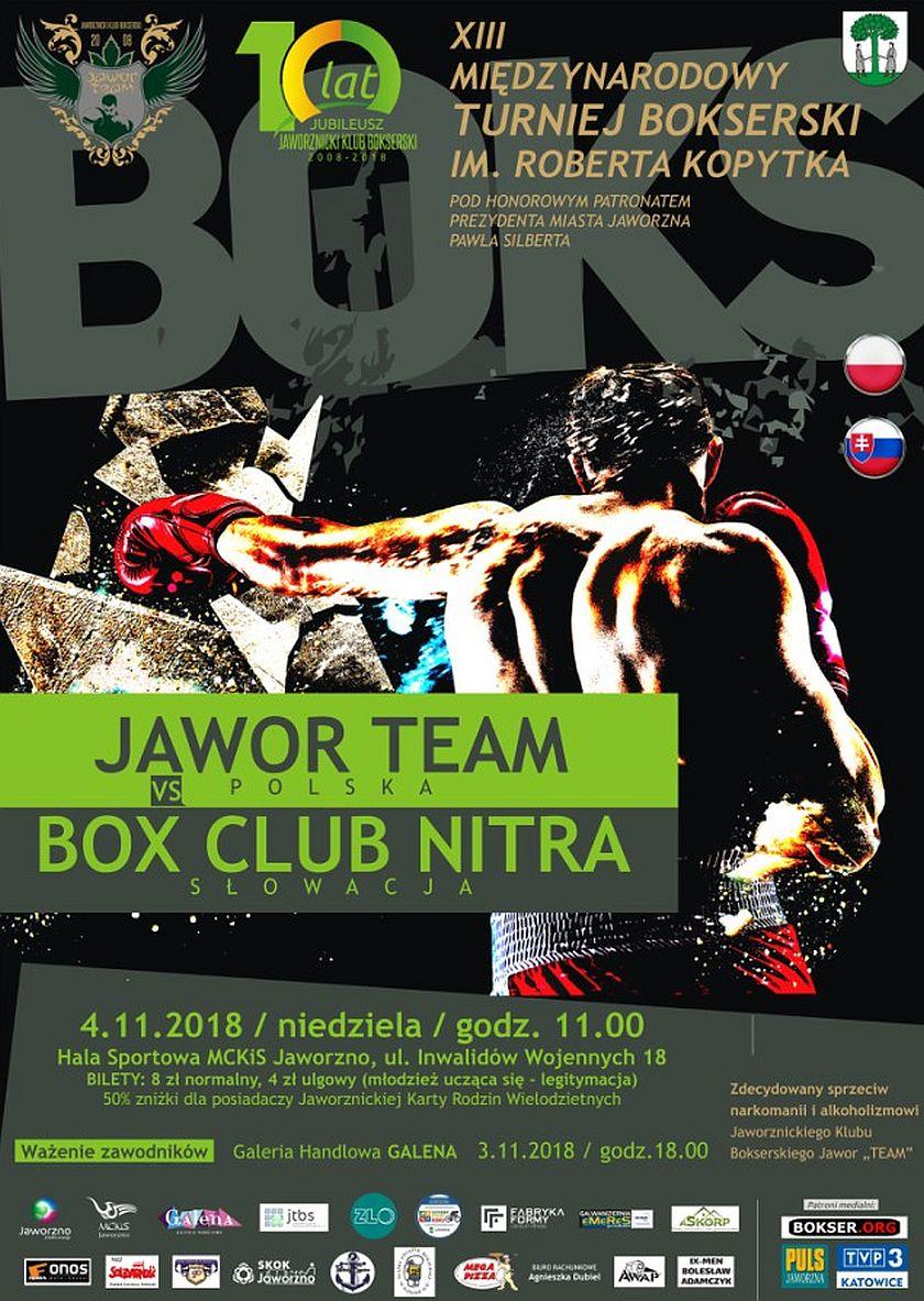 Mecz JKB Jawor Team (Polska) kontra BOX Club Nitra (Słowacja)
