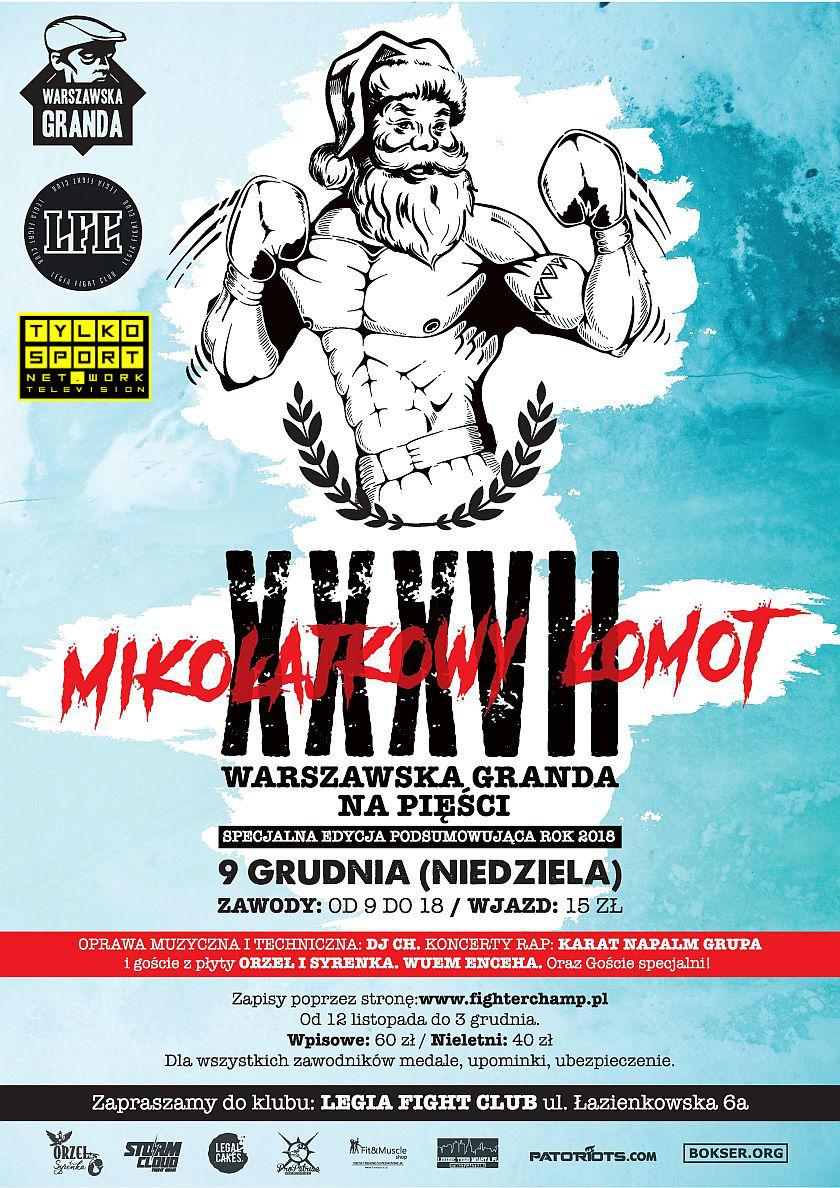 Mikołajkowy Łomot podczas Warszawskiej Grandy na Pięści na Torwarze - Legia Fight Club