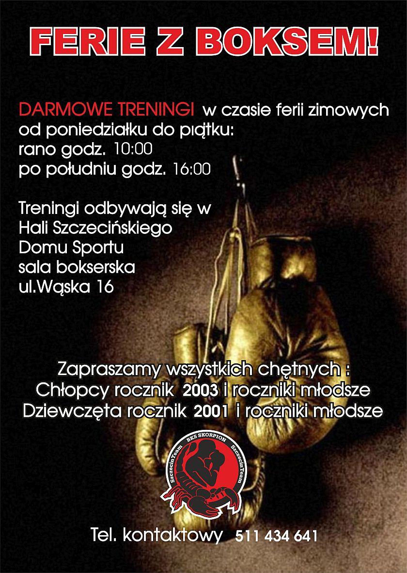 Bezpłatne zajęcia Ferie z Boksem w Szczecinie