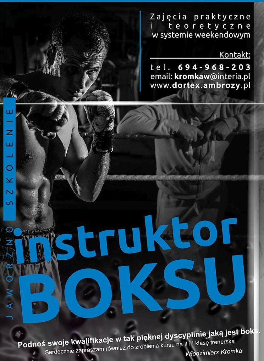 Kurs instruktorski oraz kwalifikowany na II i I klasę trenera boksu