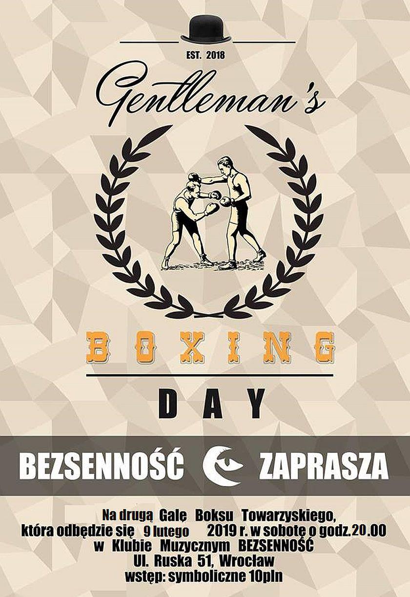 Liga dżentelmenów - Gentlemans Boxing - Klub Bezsenność - wrocław
