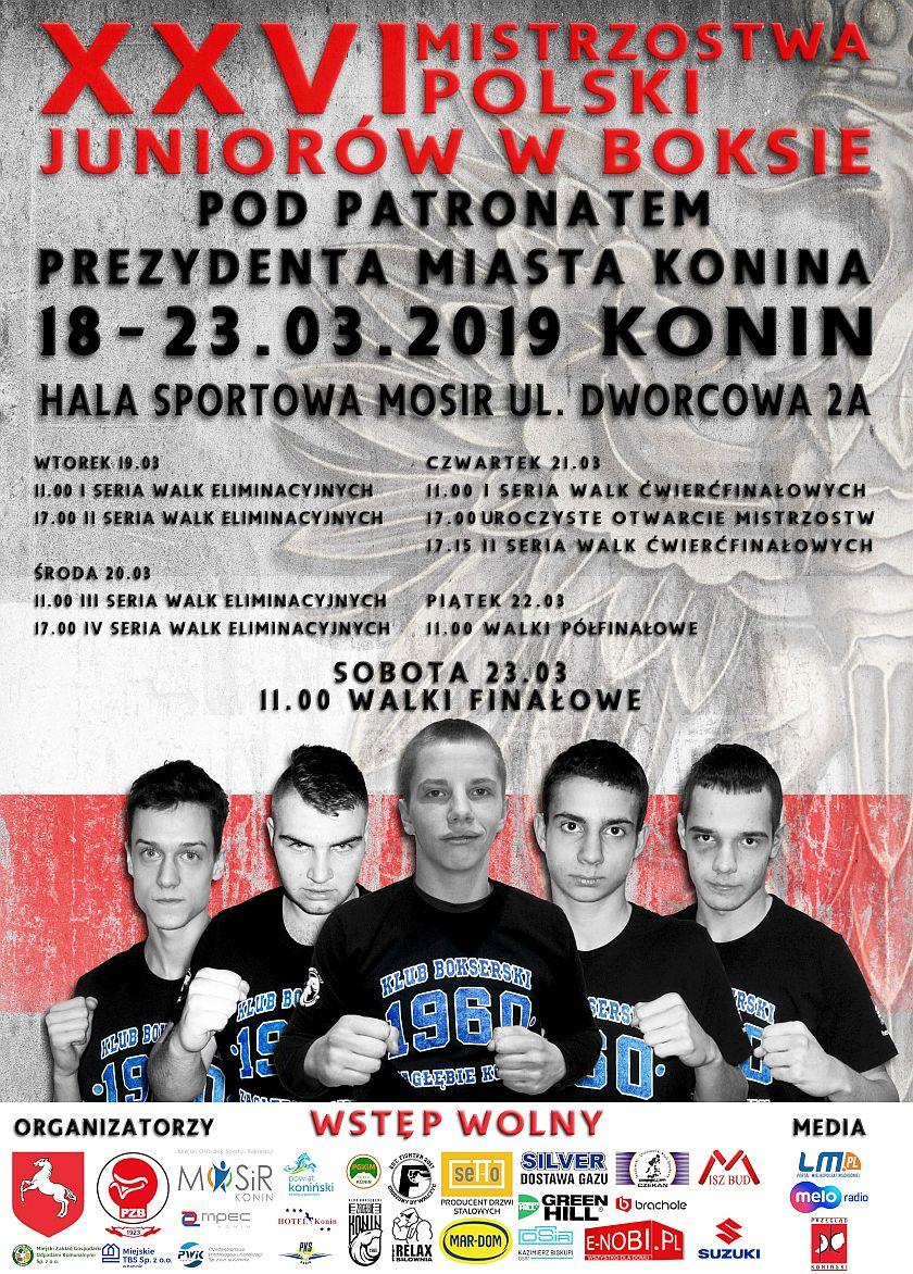 Mistrzostwa Polski Juniorów w Boksie (18-23.03.2019) Konin