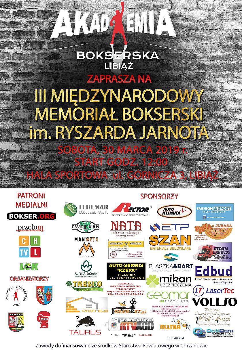 III Międzynarodowy Memoriał Ryszarda Jarnota 2019 Libiąż