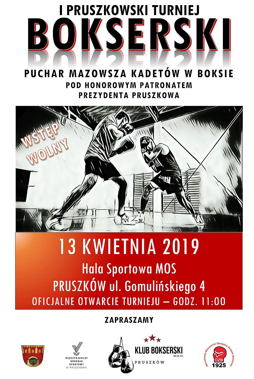 Pierwszy Pruszkowski Turniej i Puchar Mazowsza Kadetów 2019