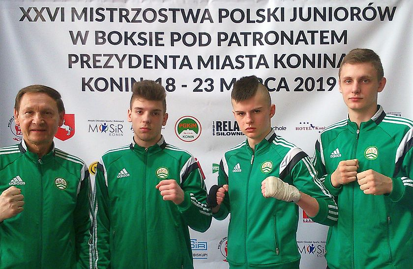 Drużyna łódzkiego klubu na XXVI Mistrzostwach Polski Juniorów w Koninie