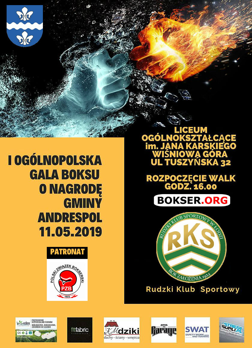I Ogólnopolska Gala Boksu o nagrodę Gminy Andrespol