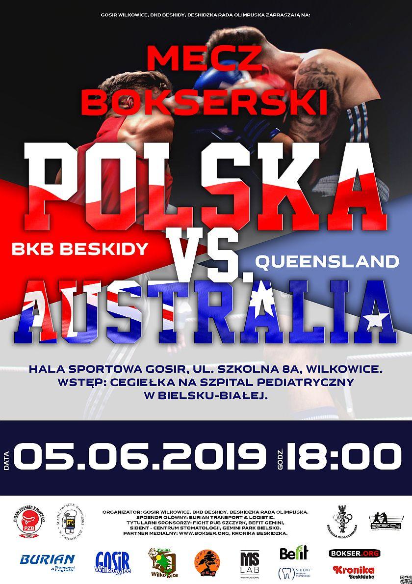 Mecz bokserski Polska vs Australia