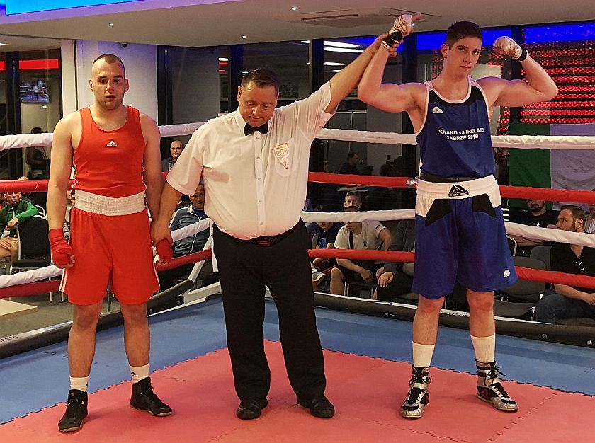 81kg Tabak Dominik (Polska) - Thomas O'Toole (Irlandia)