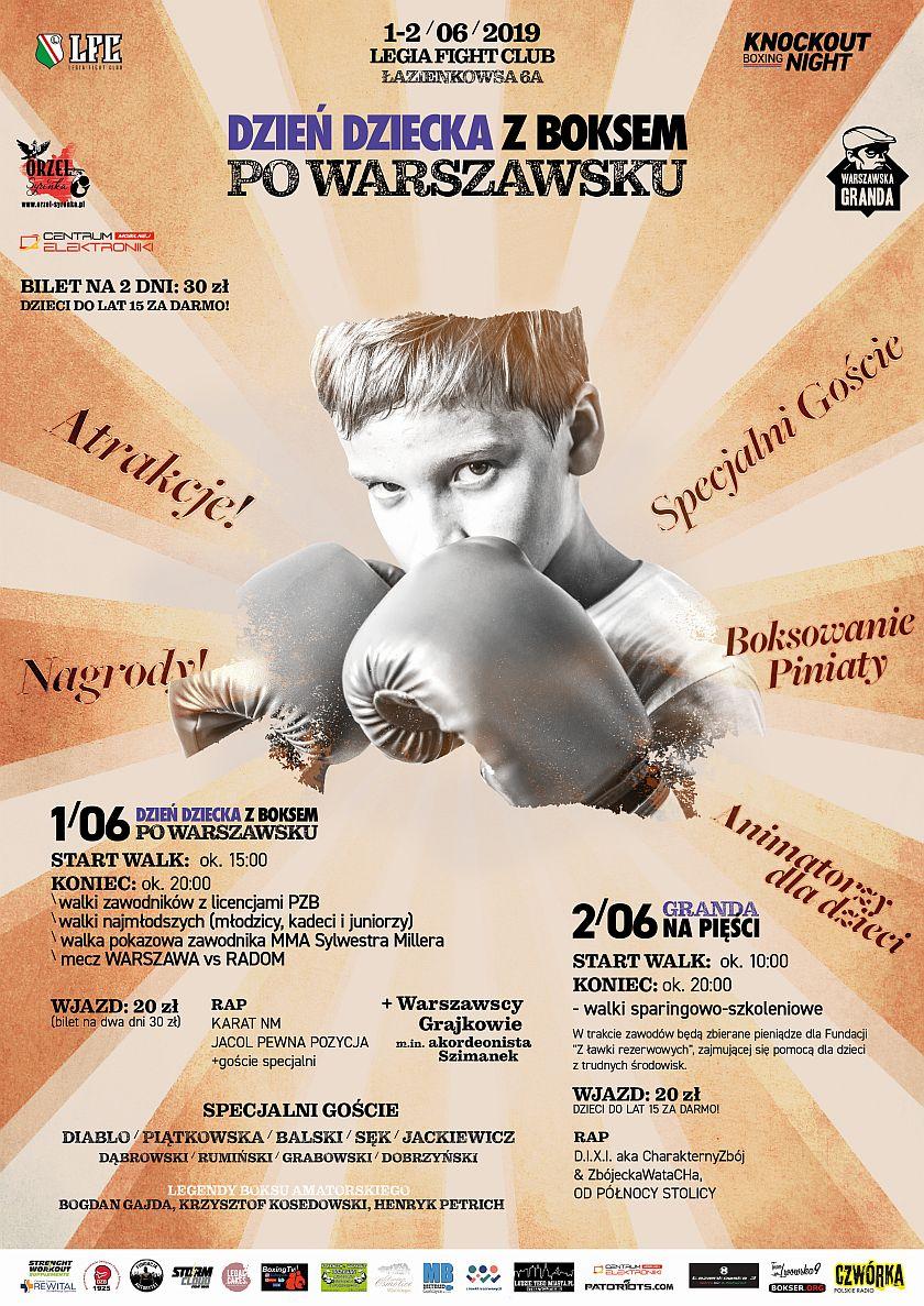 Warszawska Granda na Pięści - Legia Fight Club - Dzień Dziecka z Boksem