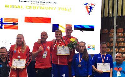 Podium Zofia Stachowiak na Mistrzostwach Europy w Galati