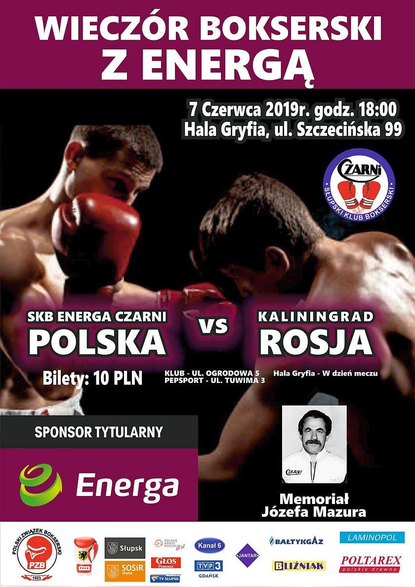 Mecz Energa Czarni Słupsk kontra Kaliningrad (Rosja)