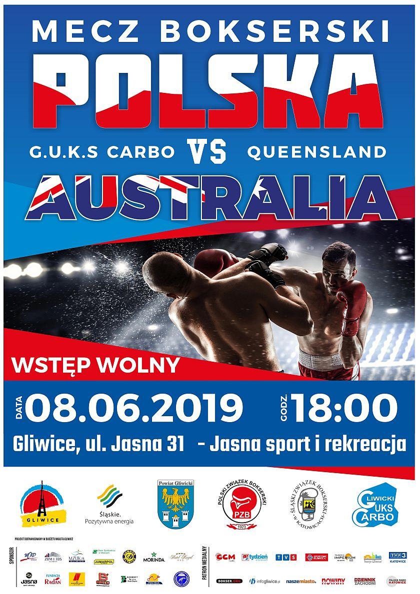 Mecz GUKS Carbo kontra QUEENSLAND Australia w Gliwicach