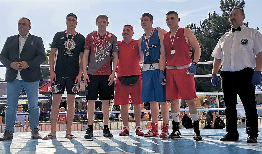 kategoria 81kg Nurlan Sabirov (Kazachstan) vs Alieksei Alfiorau (Białoruś) -RSCI2