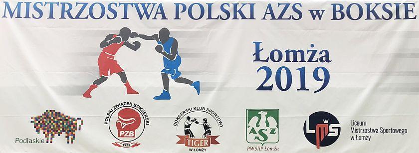 Czwarte mistrzostwa Polski AZS 2019 Łomża - boks olimpijski studentów