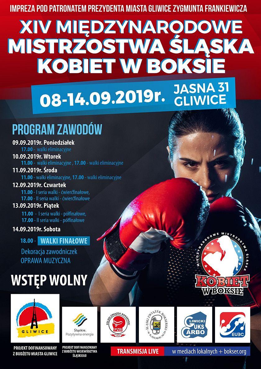Międzynarodowe Mistrzostwa Slaska Kobiet w Boksie - Gliwice 2019