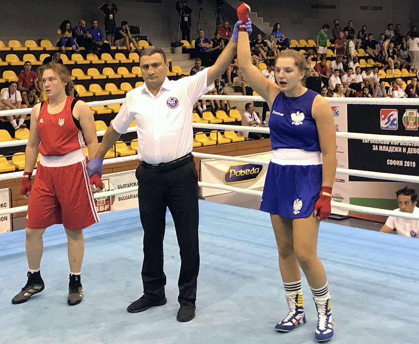Julia Różańska pewnie wykorzystuje szansę na medal Mistrzostw Europy w Sofii