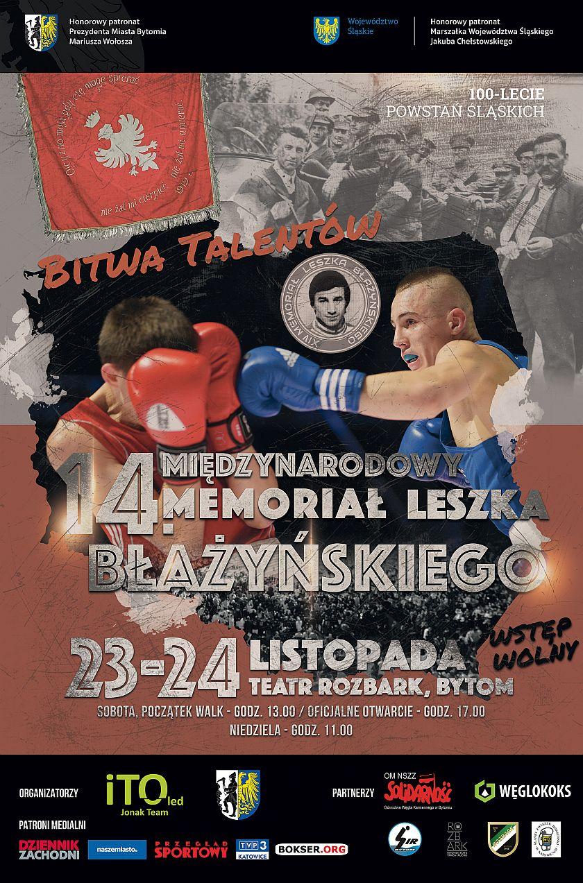 XIV Memoriał Leszka Błażyńskiego - teatr Rozbark, Wojciecha Kilara 29 Bytom
