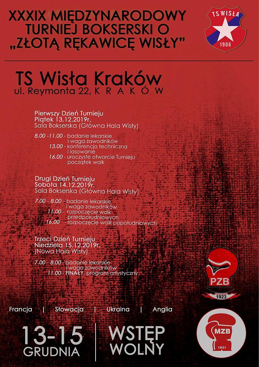 XXXIX Międzynarodowy Turniej Bokserski o Złotą Rękawicę Wisły Kraków 2019