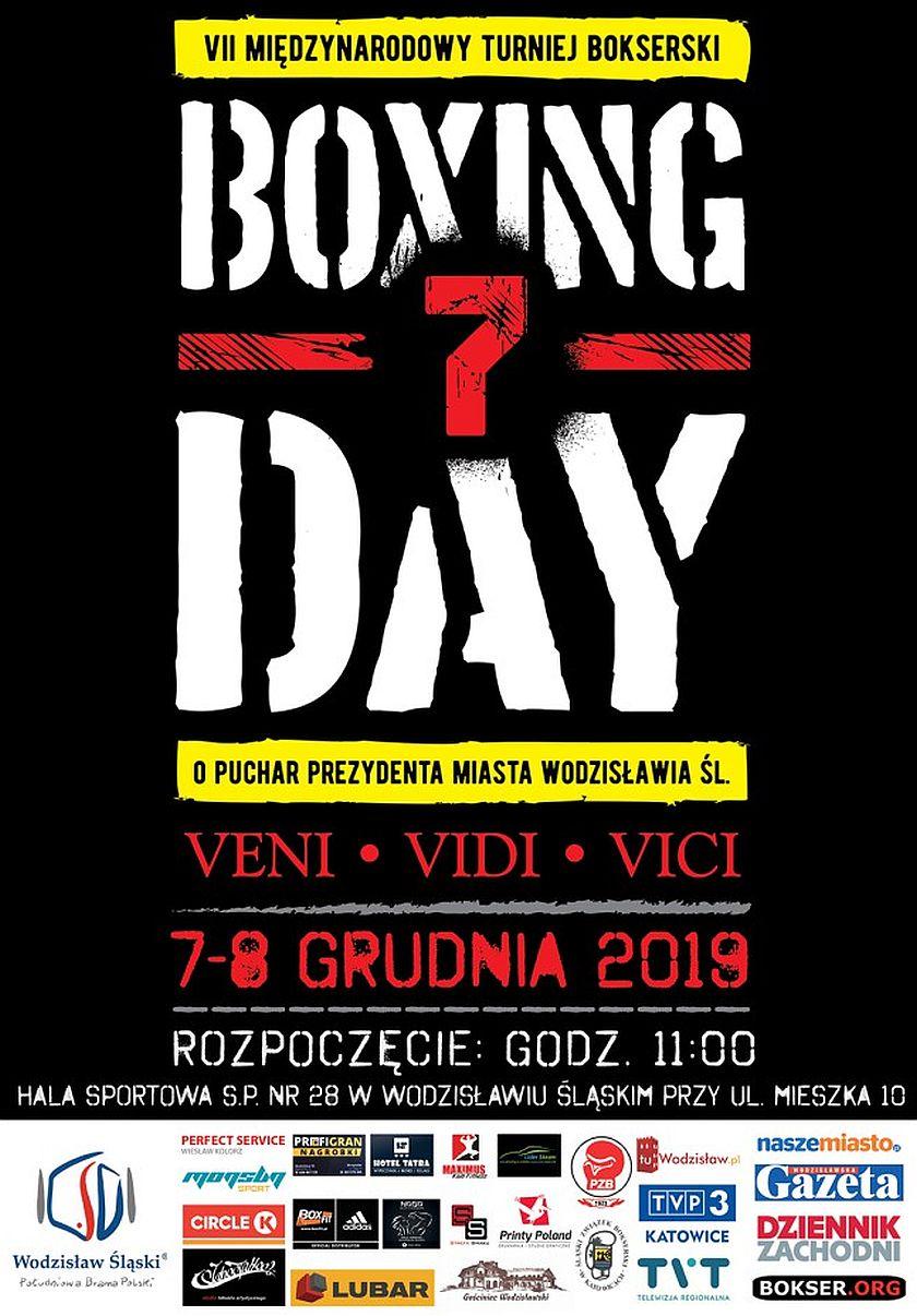 """VII Międzynarodowy Turniej Bokserski """"Boxing Day"""" o Puchar Prezydenta Miasta Wodzisławia Śląskiego"""