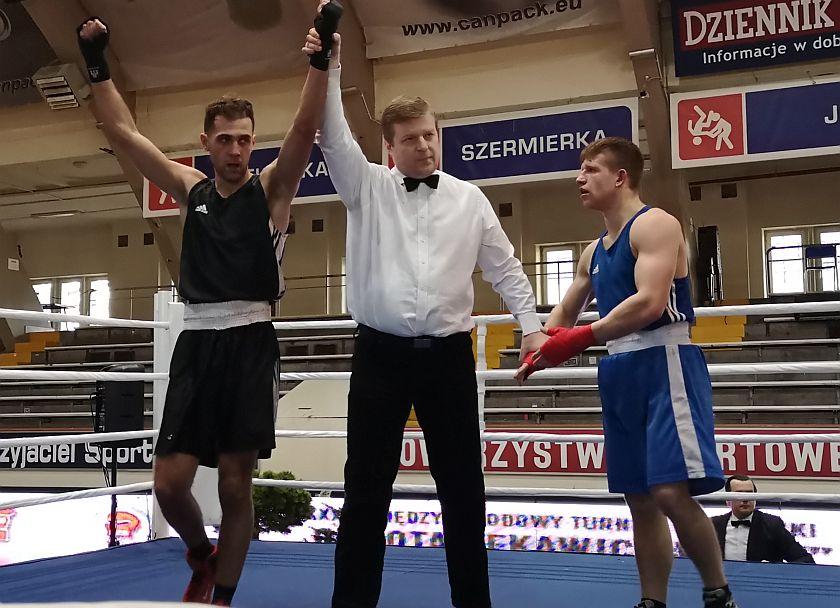75kg Mehdi Fayad (Francja) vs Kamil Urbański (Boxing Team Gosiewski)