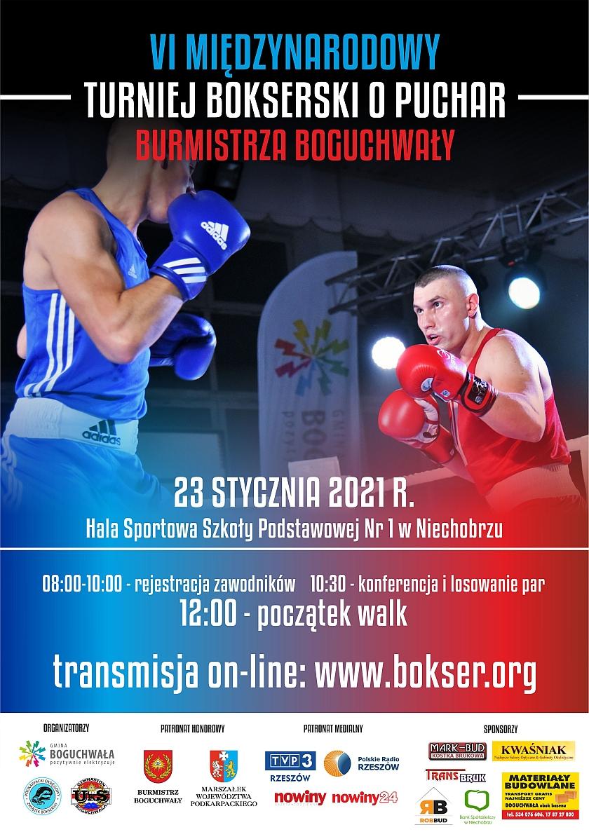 Inauguracja nowego roku Międzynarodowy Turniej Bokserski o puchar Burmistrza Boguchwały -Niechobrz