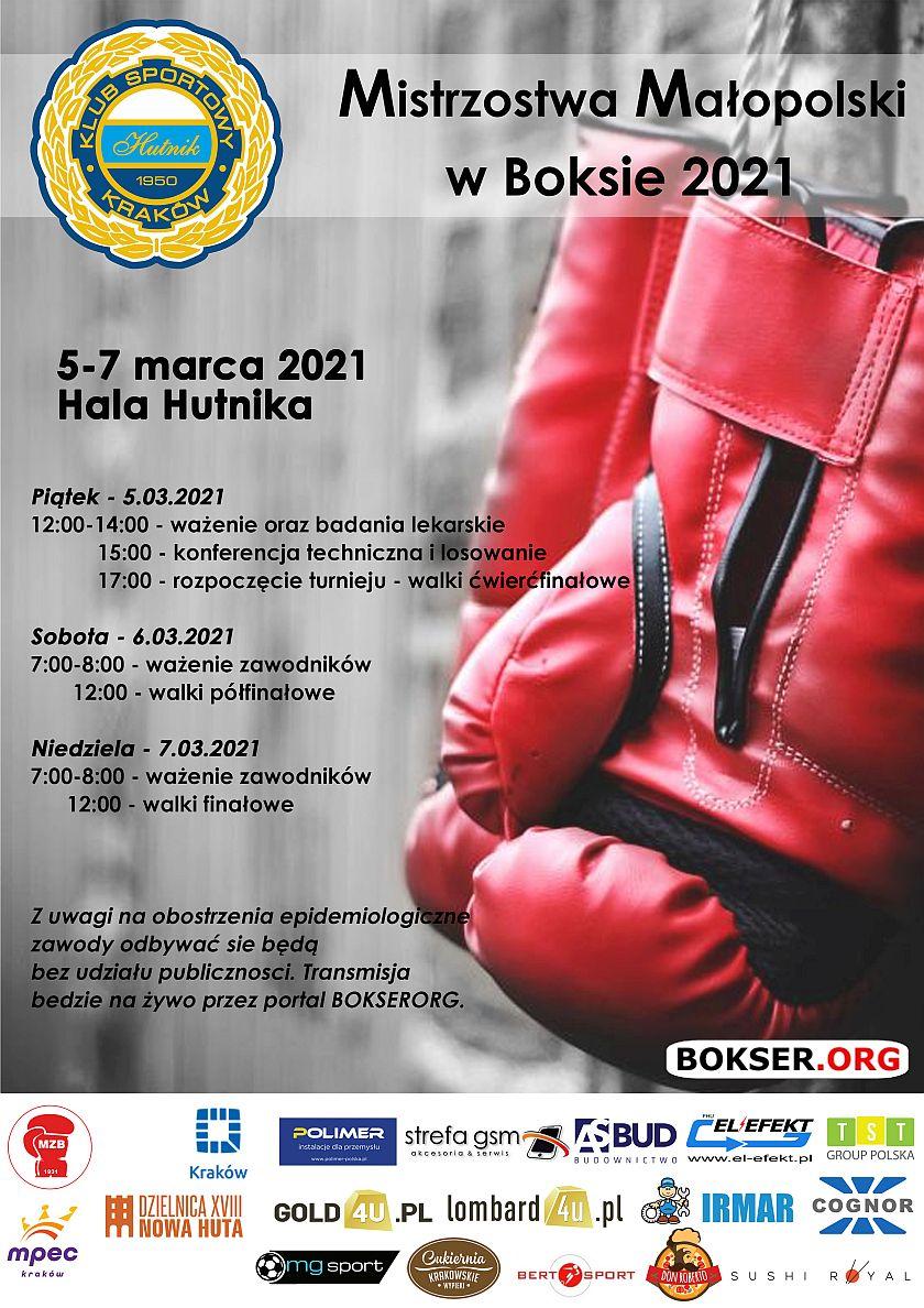 Mistrzostwa Małopolski w Boksie za rok 2021 Kraków Suche Stawy