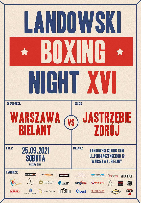 Landowski Boxing Night XVI na warszawskich Bielanach otwarcie nowego Gymu pięściarskiego